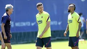 Quique Setién y Arturo Vidal ofrecen sus impresiones sobre el FC Barcelona - Bayern
