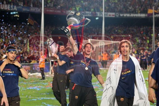 Marc Muniesa debutó con el primer equipo del Barça en la 08/09