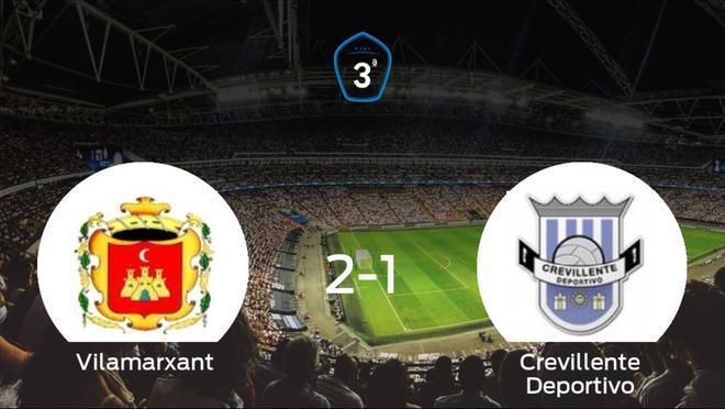 Los tres puntos se quedan en casa tras la victoria del Vilamarxant frente al Crevillente Deportivo (2-1)