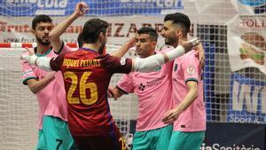 El Barça celebra el 0-2 que marcó Marcenio
