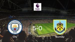 El Manchester City muestra su poderío tras golear al Burnley (5-0)
