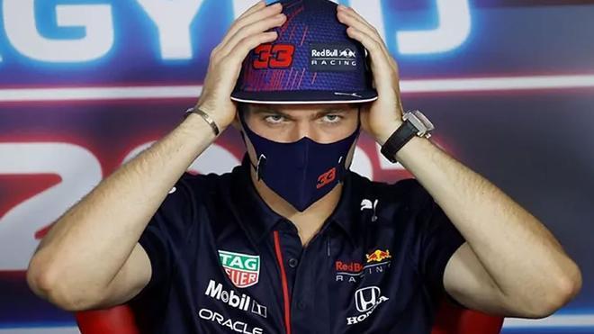 Verstappen , en la rueda de prensa de Hungría
