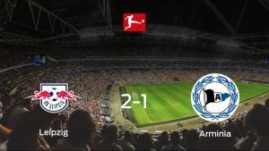El RB Leipzig se hace fuerte en casa y vence al Arminia Bielefeld (2-1)
