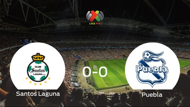 El Santos Laguna y el Puebla no encuentran el gol y se reparten los puntos (0-0)