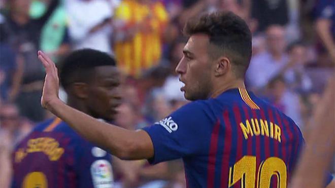 La puntera de oro: así salvó Munir un punto para el Barça