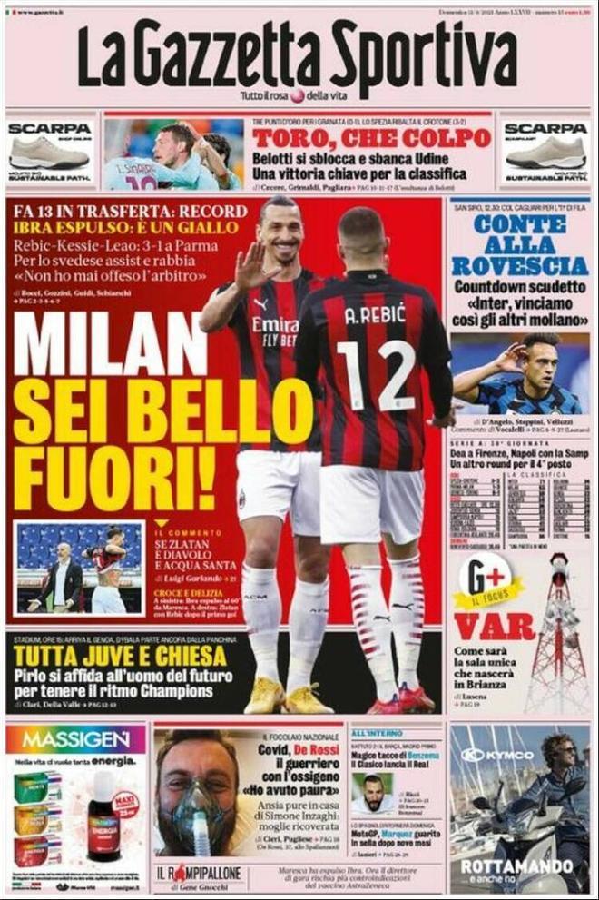 Portada La Gazzetta dello Sport 11 de abril