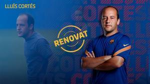 Lluís Cortés: Estoy muy contento de poder seguir haciendo grandes cosas con este club