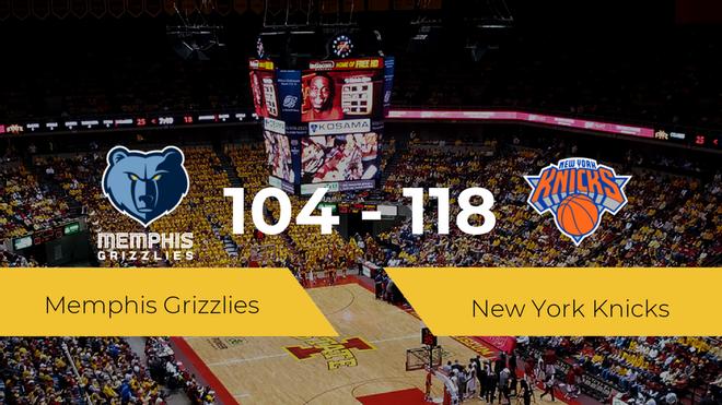 New York Knicks se impone a Memphis Grizzlies por 104-118