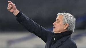 Mourinho, en un partido del Tottenham
