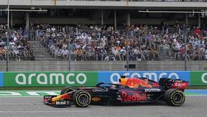 Verstappen, durante la sesión de clasificación.