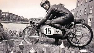 Jan de Vries, en su etapa dorada en el Mundial de 50 cc