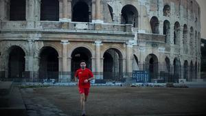 Fernando del Corral corriendo en Roma