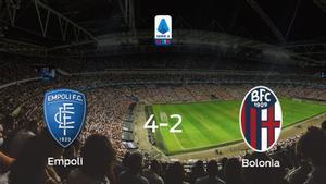 El Empoli suma tres puntos después de vencer 4-2 al Bolonia