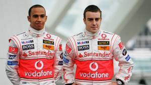 Hamilton y Alonso, en su etapa juntos en McLaren, en 2007