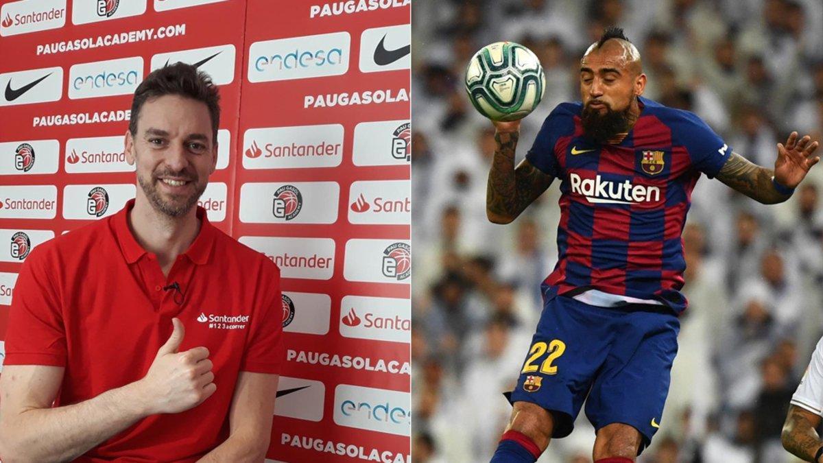 Pau Gasol valoró las virtudes del chileno del Barça Artutro Vidal