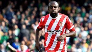 Seydou Doumbia festejando su gol contra el Betis en el estadio Benito Villamarín