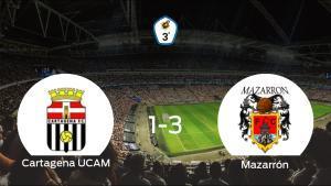 El Mazarrón FC se lleva los tres puntos frente al Cartagena F.C. UCAM (1-3)