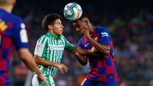 Lainez jugando contra el Barça5