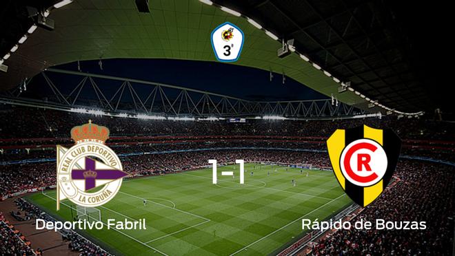 El Deportivo Fabrily el Rápido de Bouzasse reparten los puntos y empatan 1-1