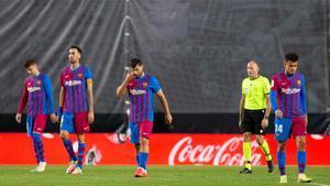 Las imágenes de la derrota del FC Barcelona en Vallecas