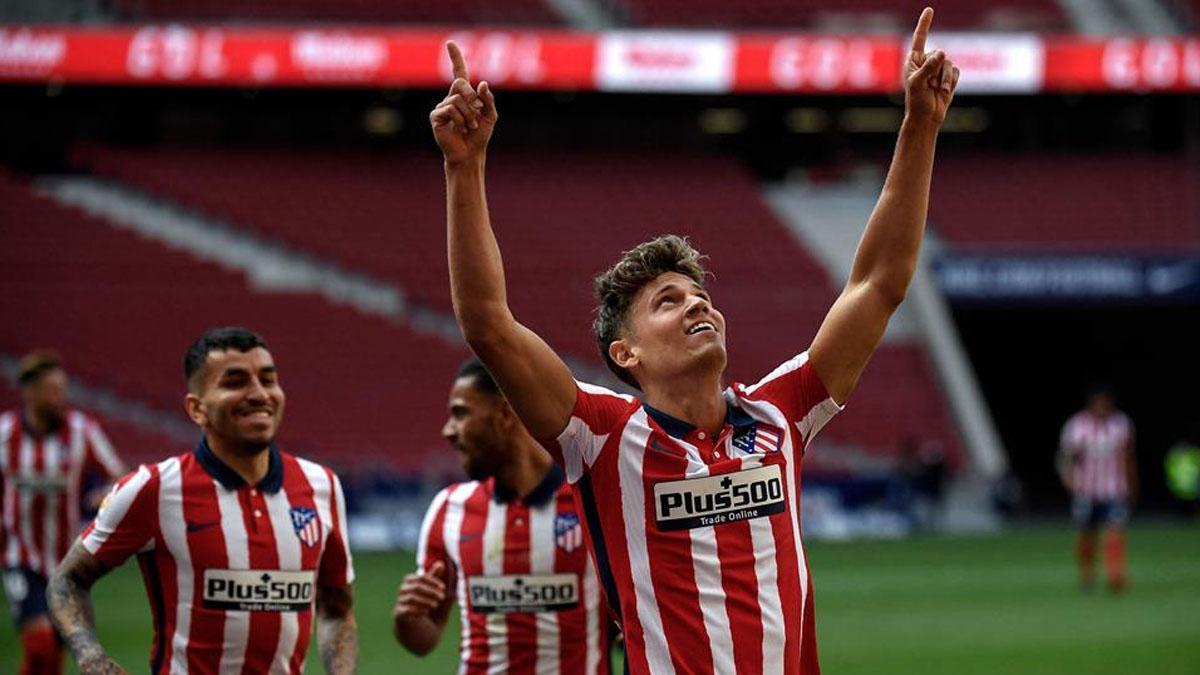 Marcos Llorente, celebrando un gol