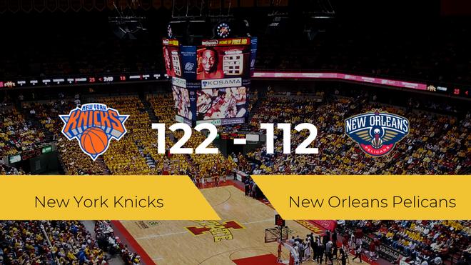 New York Knicks se hace con la victoria contra New Orleans Pelicans por 122-112
