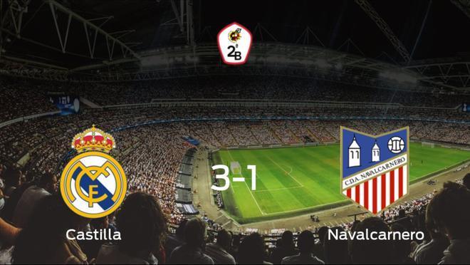 El RM Castilla se lleva tres puntos tras vencer 3-1 al Navalcarnero