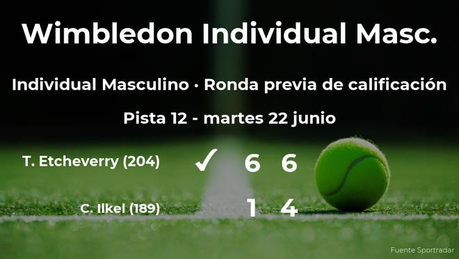 Tomas Martin Etcheverry consigue ganar en la ronda previa de calificación a costa del tenista Cem Ilkel