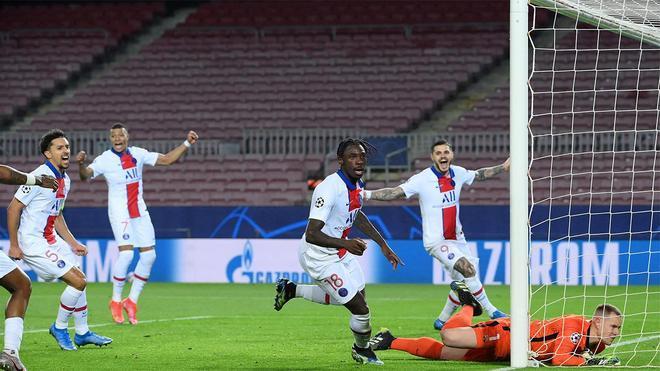 También en Champions el Barça recibe a balón parado: así sentenció Moise Kean
