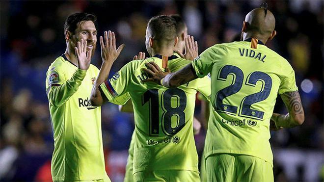 Jordi Alba volvió a ser el mejor socio de Messi en el segundo gol del argentino