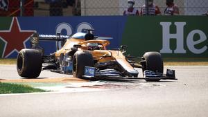Ricciardo dominando en Monza