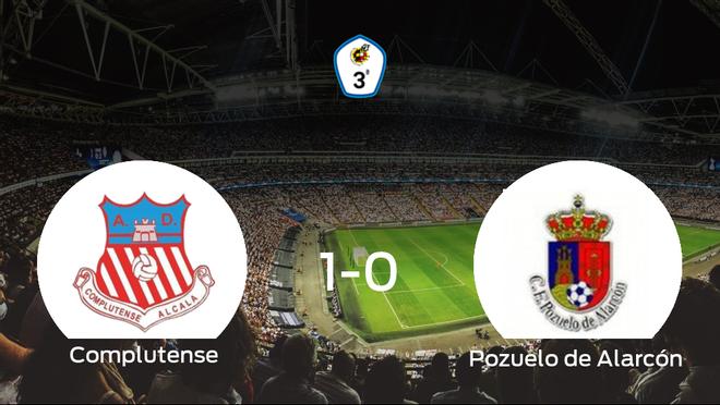 Tres puntos para el equipo local: Complutense Alcalá 1-0 Pozuelo de Alarcón
