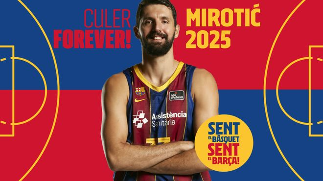 Mirotic amplía su vínculo con el Barça hasta 2025