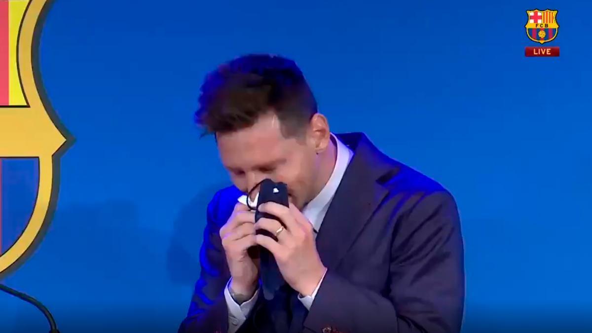 Hoy es un día muy duro para el barcelonismo: Leo Messi rompió a llorar antes de comenzar el acto de despedida