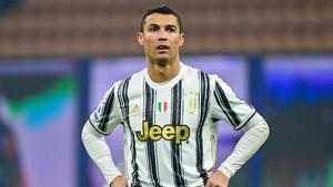 Cristiano durante la derrota ante el Inter.