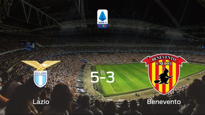 Los tres puntos se quedan en casa: Lazio 5-3 Benevento