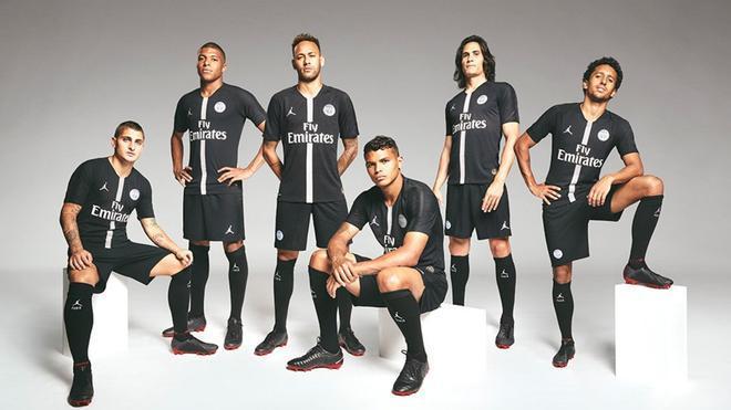 El conjunto parisino vestirá con la marca Jordan, de Nike, para la temporada 2018 - 2019 de Liga de Campeones