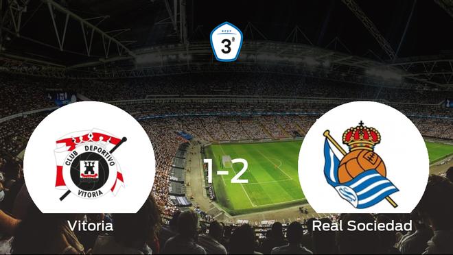 1-2: La Real Sociedad C se impone en el estadio del CD Vitoria