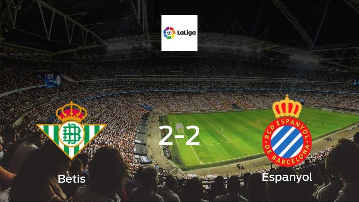 Stalemate at the Estadio Benito Villamarin, as Betis draw 2-2 with Espanyol