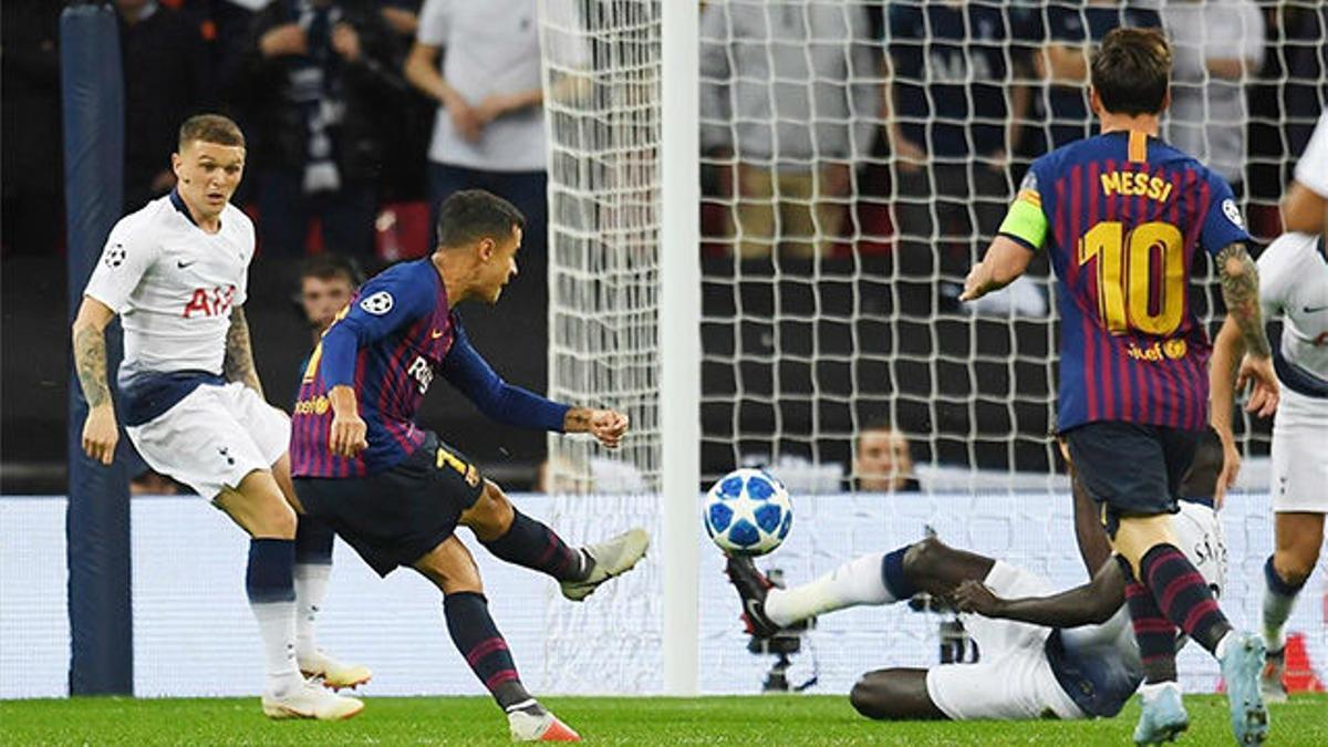 Coutinho marcó ante el Tottenham