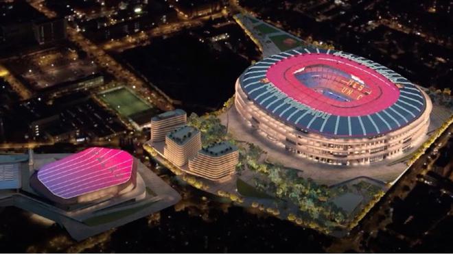 Simulación del nuevo Espai Barça propuesto por la Junta de Joan Laporta