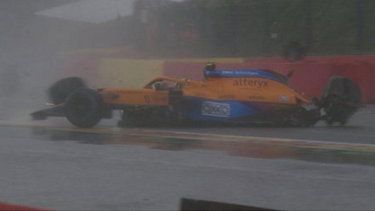 El coche de Norris, en Spa