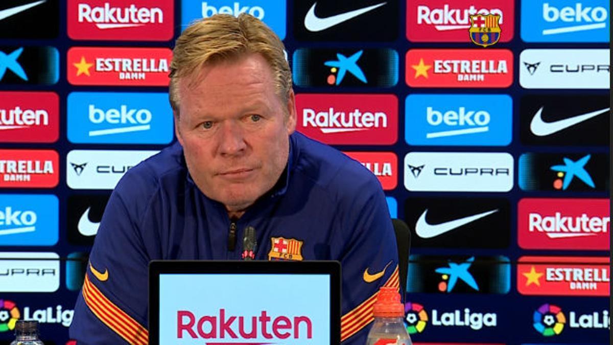 Koeman admite el interés del Barça por Eric García