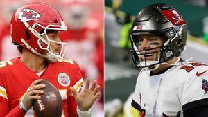 Mahomes y Brady, protagonistas del Super Bowl 2021