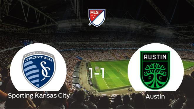 El Austin FC logra un empate frente al Sporting Kansas City (1-1)