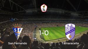 El San Fernando logra una ajustada victoria en casa ante el Tamaraceite (1-0)