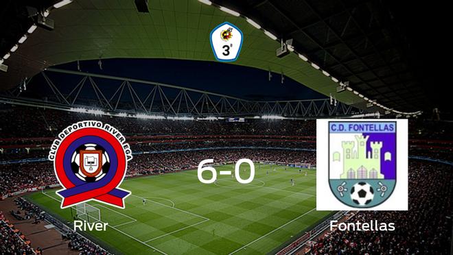 Los tres puntos se quedan en casa: goleada del River Ega al CD Fontellas (6-0)
