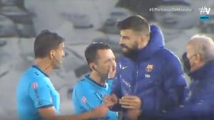 Gerard Pique cannot contain himself