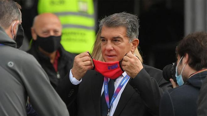 Joan Laporta, en una imagen de archivo del día de las elecciones en el FC Barcelona