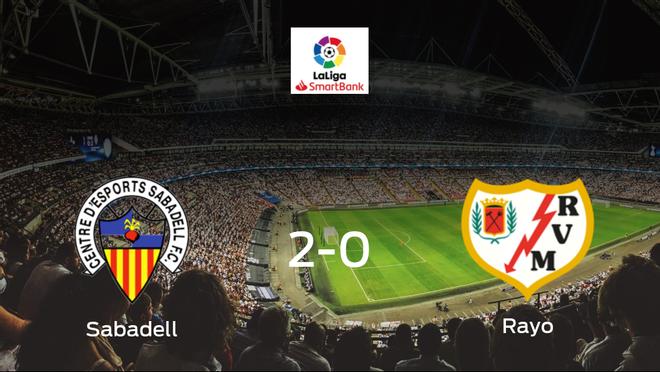 El Sabadell gana 2-0 en casa al Rayo Vallecano